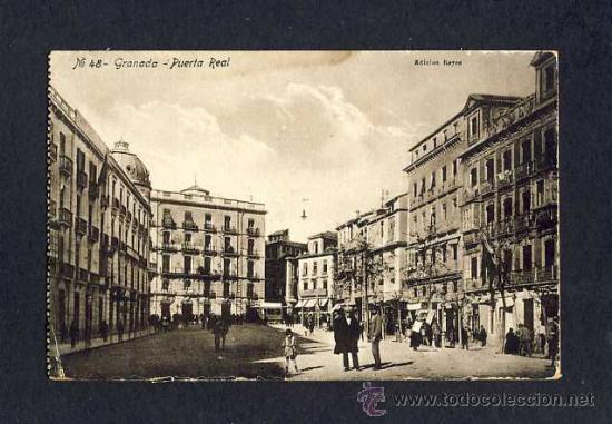 POSTAL DE GRANADA: PUERTA REAL (ED.REYES NUM.48) (ANIMADA) (Postales - España - Andalucía Antigua (hasta 1939))