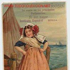 Postales: POSTAL: SEVILLA. PUBLICIDAD DE LOS PERFUMES ÁNFORA. INSTITUTO ESPAÑOL. SIN CIRCULAR. Lote 12527034