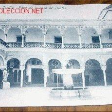 Postales: ANTIGUA POSTAL DE SEVILLA - PATIO DE LA CASA DE PILATOS - ABELARDO LINARES - SIN CIRCULAR. Lote 2132737