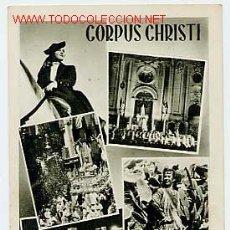 Postales: GRANADA. FIESTAS DEL CORPUS CHRISTI. HUECOGRABADO FOURNIER, VITORIA. ESCRITA EN EL 53. Lote 4120169
