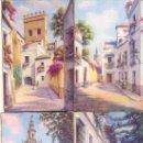Postales: SEVILLA. COLECCIÓN 10 POSTALES CON DIBUJOS AL PASTEL DE LUGARES DE SEVILLA. C. 1960. SE. Lote 27579037