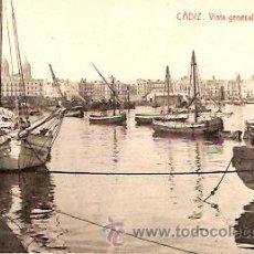 Postales: POSTAL CADIZ VISTA GENERAL DEL PUERTO. Lote 9981617