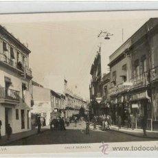 Postales: (PS-7695)POSTAL FOTOGRAFICA DE HUELVA-CALLE SAGASTA. Lote 10200824