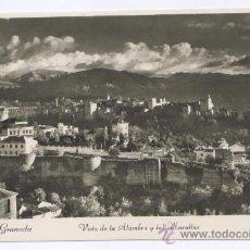 Postales: POSTAL GRANADA - VISTA DE LA ALAMBRA Y LAS MURALLAS. Lote 10850790