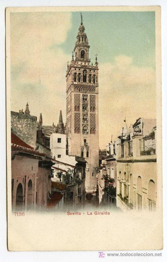 SEVILLA. LA GIRALDA. P.Z. 7136. NUEVA. REVERSO SIN DIVIDIR (Postales - España - Andalucía Antigua (hasta 1939))