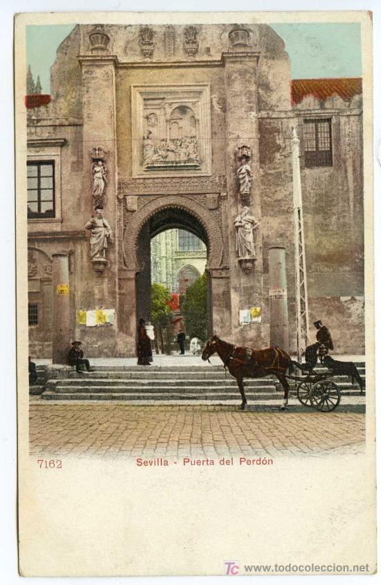 SEVILLA. PUERTA DEL PERDÓN. P.Z. 7162. NUEVA. REVERSO SIN DIVIDIR (Postales - España - Andalucía Antigua (hasta 1939))