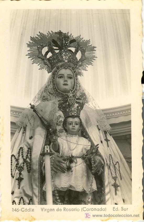 Tarjeta postal de cadiz n 146 virgen del ros comprar postales tarjeta postal de cadiz n 146 virgen del rosario coronada ed sur thecheapjerseys Choice Image