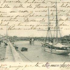 Postales: SEVILLA. VISTA DEL PUERTO. POSTAL BLANCO Y NEGRO, C. 1904. Lote 26811979