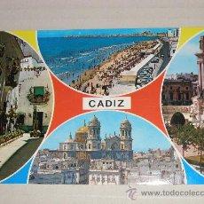 Postales: CADIZ - VISTAS BELLAS DE LA CUIDAD FOTO POSTAL EN COLOR AÑOS 1960/70 SIN CIRCULAR . Lote 11699508