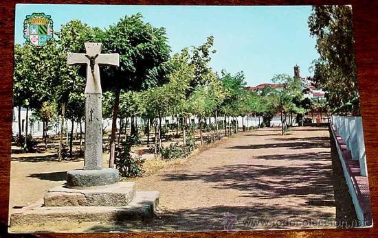 antigua foto postal de fuente obejuna cordoba paseo cruz de piedra no circulada ed garcia g