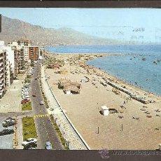 Postales: FUENGIROLA - MALAGA - PLAYA Y PASEO MARITIMO - CIRCULADA, 1972. Lote 11911387