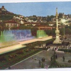 Postales: POSTAL GRANADA - JARDINES Y FUENTE LUMINOSA - ZERKOWITZ. Lote 12043860