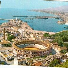 Postales: MALAGA - VISTA PARCIAL CON PLAZA DE TOROS. Lote 15947332