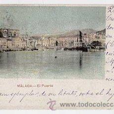 Postales: MALAGA. EL PUERTO. .CIRCULADA EN 1904. Lote 12353899