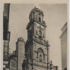 Postales: TARJETA POSTAL DE JEREZ DE LA FRONTERA FACHADA DE LA PARROQUIA DE SAN MIGUEL CADIZ. Lote 12392635
