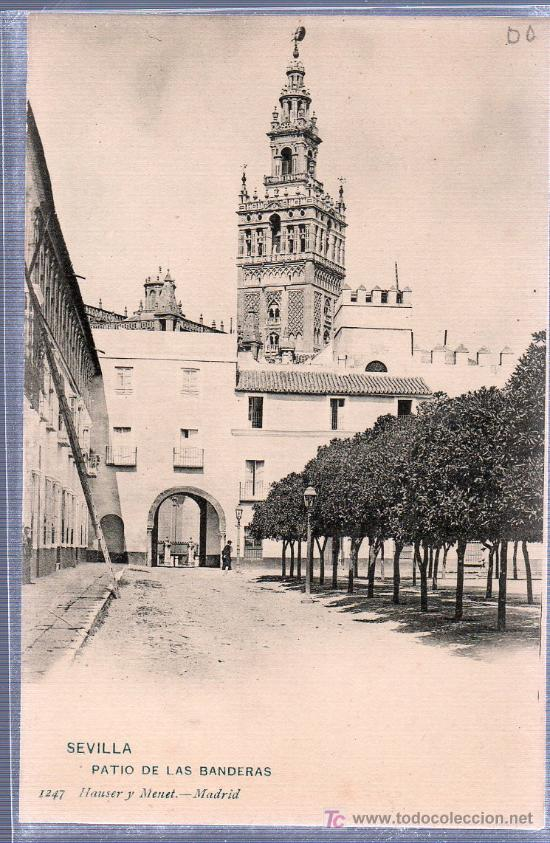 Tarjeta Postal De Sevilla Patio De Las Bandera Sold At Auction