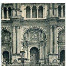 Postales: TARJETA POSTAL DE MALAGA. PORTADA DE LA CATEDRAL. 1434 HAUSER Y MENET. Lote 12560293