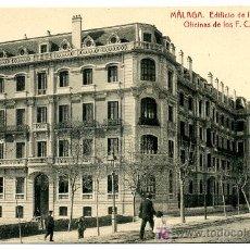 Postales: MALAGA, EDIFICIO DE LA DIRECCION Y OFICINAS DE LOS F.C. ANDALUCES, P26156. Lote 12602669