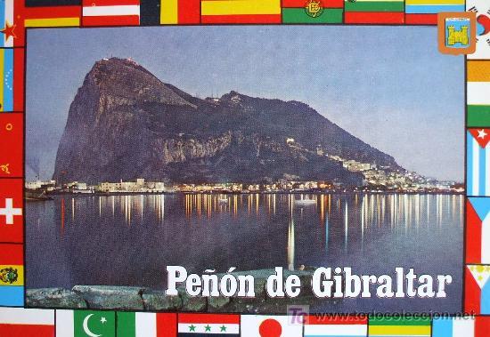 LA LÍNEA: CÁDIZ .VISTA NOCTURNA DEL PEÑÓN DE GIBRALTAR. ED. SUBIRATS CASANOVAS Nº 62 (Postales - España - Andalucia Moderna (desde 1.940))