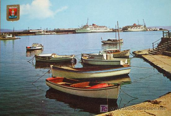 ALGECIRAS: CÁDIZ. VISTA PARCIAL DEL PUERTO. SUBIRATS CASANOVAS Nº 10 (Postales - España - Andalucia Moderna (desde 1.940))