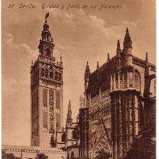 Postales: Nº 6310 POSTAL SEVILLA GIRALDA Y PATIO DE LOS NARANJOS. Lote 13712436