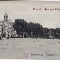 Postales: MALAGA. ACERA DE LA MARINA. EDITOR RAFAEL TOVAL. SIN CIRCULAR. Lote 12887631