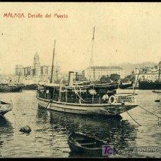 Postales: TARJETA POSTAL DE MALAGA, DETALLE DEL PUERTO. Lote 13198203