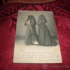 Postales: TARIFA COSTUMBRES TARIFEÑAS:MUJERES DE MANTO Y SAYA,VICENTE CABANES-TARIFA,MATASELLOS TARIFA 1903. Lote 13361013