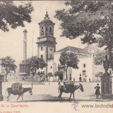 Postales: ALGECIRAS (CADIZ) 1906: PLAZA DE LA CONSTITUCION EN TARJETA POSTAL STENGEL & CO., CIRCULADA ALEMANIA. Lote 21861686