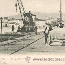 Postales: ALGECIRAS – EL MUELLE DE LA COMPAÑÍA DEL FERRO-CARRIL . Lote 25063239