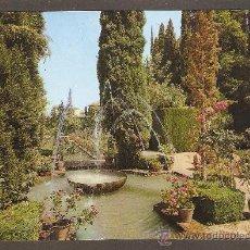 Postales: POSTAL GRANADA - GENERALIFE - JARDINES - DOMINGUEZ. Lote 14499469