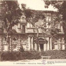 Postales: POST 60 - POSTAL NO CIRCULADA - 7 - GRANADA - ALHAMBRA . PALACIO DE CARLOS V - SUCESOR DE CASSO - GR. Lote 15007476