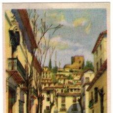 Postales: BONITA POSTAL - GRANADA - PLAZA DE LOS GIRONES - PUBLICIDAD EL AGUILA REAL. Lote 18694420