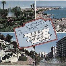 Postales: ALMERIA. TELEGRAMA ( DIVERSOS ASPECTOS ). ED. ARRIBAS CIRCULADA. Lote 15141369