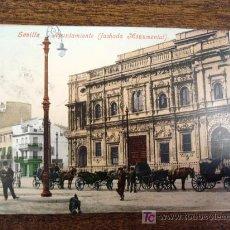Postales: POSTAL ANTIGUA SEVILLA. AJUNTAMIENTO. SIN DIVIDIR. CIRCULADA EL 28/00/1903 . Lote 24703714