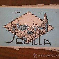 Postales: CUADERNO ANTIGUO DE 12 POSTALES DE SEVILLA SERIE N°1. Lote 15563872