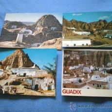Postales: POSTAL LOTE 4 POSTALES GRANADA GUADIX CUEVAS PURULLENA NO CIRCULADAS. Lote 15799300