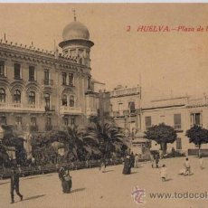 Postales: HUELVA.-PLAZA DE LAS MONJAS. Lote 16397939
