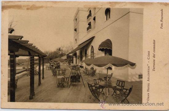 CÁDIZ.-GRAN HOTEL ATLÁNTICO-TERRAZA DEL COMEDOR (Postales - España - Andalucia Moderna (desde 1.940))