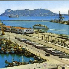Postales: POSTAL ALGECIRAS CADIZ VISTA DEL PUERTO AL FONDO GIBRALTAR. Lote 16414103
