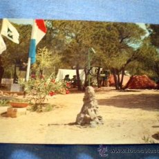 Postales: POSTAL CADIZ CHICLANA DE LA FRONTERA CAMPAMENTO J.A.C.E. DE UBEDA LA BARROSA 1975 CIRCULADA. Lote 26251099