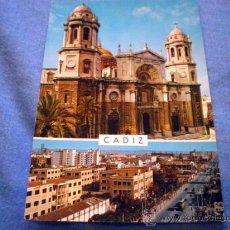 Postales: POSTAL CADIZ CATEDRAL Y AVENIDA LOPEZ PINTO ESCRITA. Lote 16418722