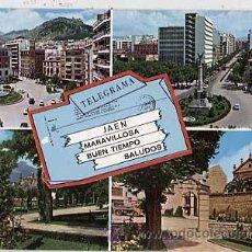 Postales: JAEN. TELEGRAMA. ED. ARRIBAS CIRCULADA. Lote 16562728