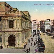 Postales: MAGNIFICA POSTAL - SEVILLA - PLAZA DE LA CONSTITUCION. Lote 16591434