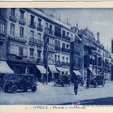 Postales: EXTRAORDINARIA POSTAL - SEVILLA - PLAZA DE LA CONSTITUCION . Lote 16623502