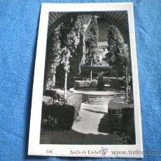 Postales: POSTAL GRANADA JARDIN DE LINDARAJA 1952 CIRCULADA. Lote 16786141