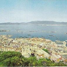 Postales: GIBRALTAR VISTA DEL PUERTO,ALGECIRAS AL FONDO. Lote 21517450