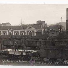 Postales: POSTAL FOTOGRAFICA: CORDOBA PUEBLONUEVO DEL TERRIBLE ESTACION DE PEÑARROYA FOTO NAVARRO FERROCARRIL. Lote 17222616