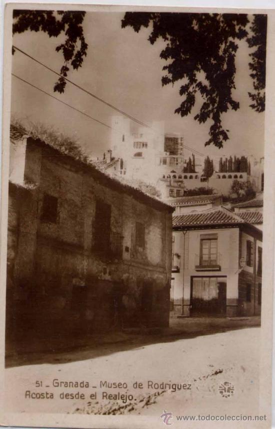 GRANADA.-MUSEO DE RODRIGUEZ ACOSTA DESDE EL REALEJO (Postales - España - Andalucia Moderna (desde 1.940))