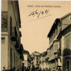 Postales: MOTRIL(GRANADA).-CALLE DE MARTÍNEZ CAMPOS. Lote 17337027